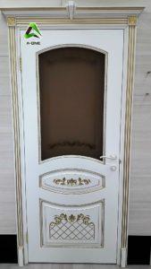 Алина эмаль белая + патина золото стекло Алина бронза