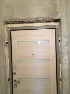 Входная дверь Президент Х7 с панелью белый сандал