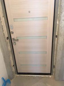 Входная дверь Президент Х7 панель белый сандал
