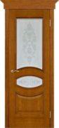 Ницца античный дуб тон 14 стекло фантазия, наличник канелюр, широкая корона