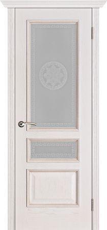 Вена белая патина тон 17 стекло версачи, наличник канелюр, карниз (1)