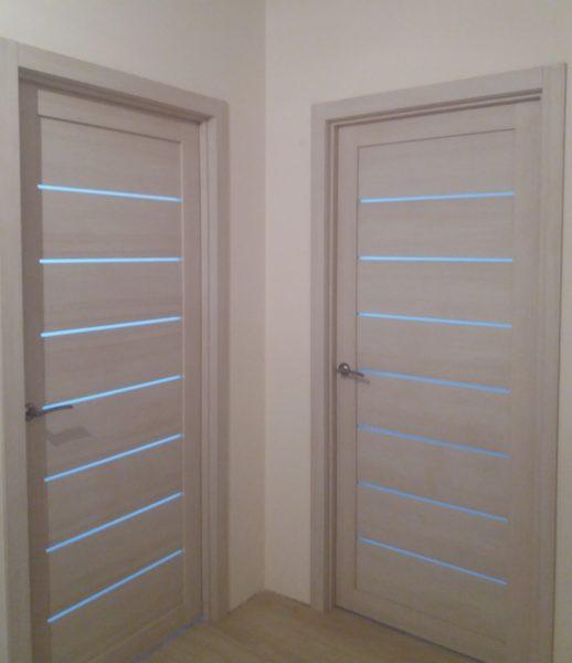 Дверь Убертюре экошпон LIGHT 2125 капучино велюр