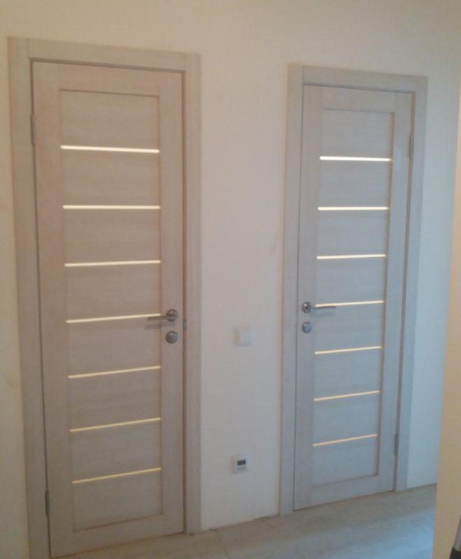 Дверь экошпон LIGHT 2125 капучино велюр