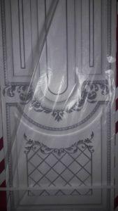 Дверь Алина 2 белая эмаль патина серебро
