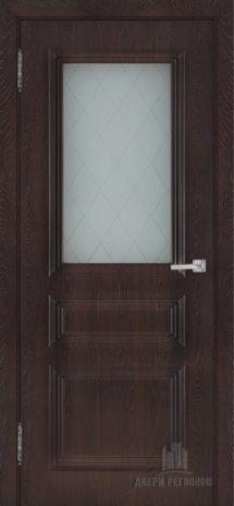Дверь пвх Римини цвет шоколад остекленная в наличии в химках и зеленограде