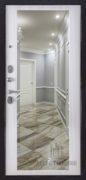 Входная дверь с Зеркалом внутренняя отделка сандал белый зеркало МАХI