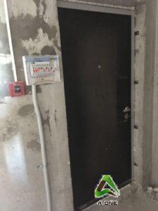 Входная дверь Колизей без панели черный крокодил