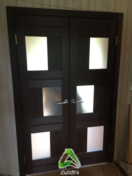 Light 2126 серый велюр двойные двери экошпон